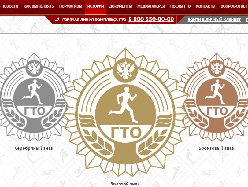 История сайта общественного движения ГТО